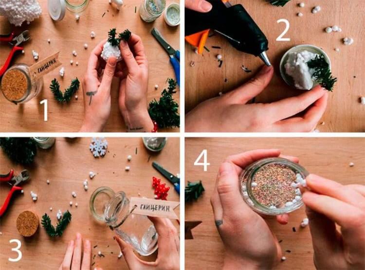 DIY para el Año Nuevo con tus propias manos: Hacemos una escuela y jardín de Podelki K Novomu Godu 11