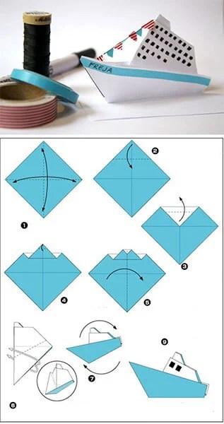 船舶为儿童:使用方案创建的各种方式和描述Korabl Svoimi Rukami 25