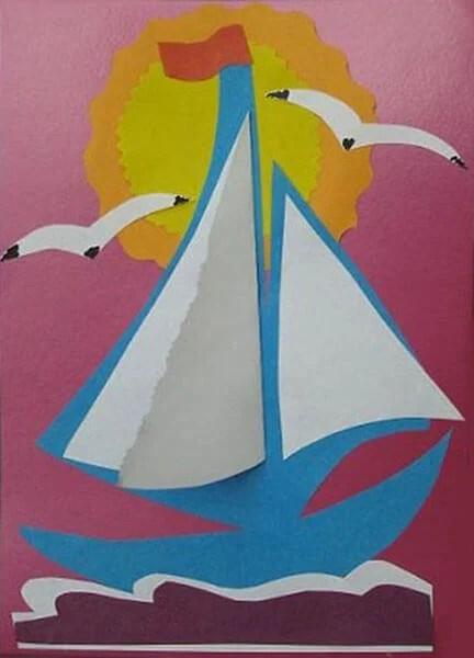 儿童船:使用方案创建的各种方式和描述Korabl Svoimi Rukami 40