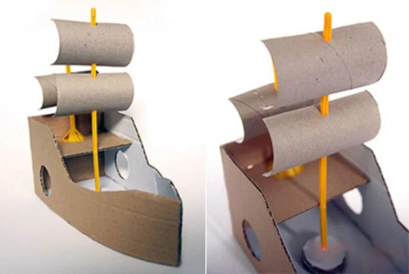 船舶为儿童:使用方案创建的各种方式和描述Korabl Svoimi Rukami 69