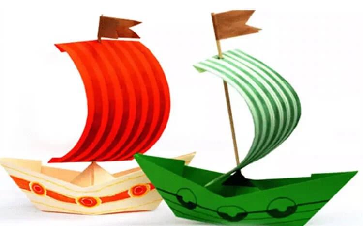 船舶为儿童:使用方案创建的各种方式和描述Korable Svoimi Rukami 73