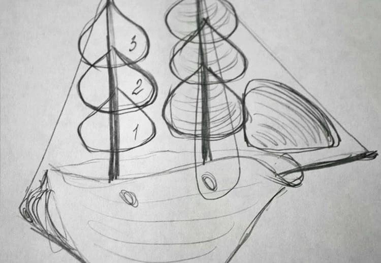 儿童船:使用方案创建的各种方式和描述Korabl Svoimi Rukami 95