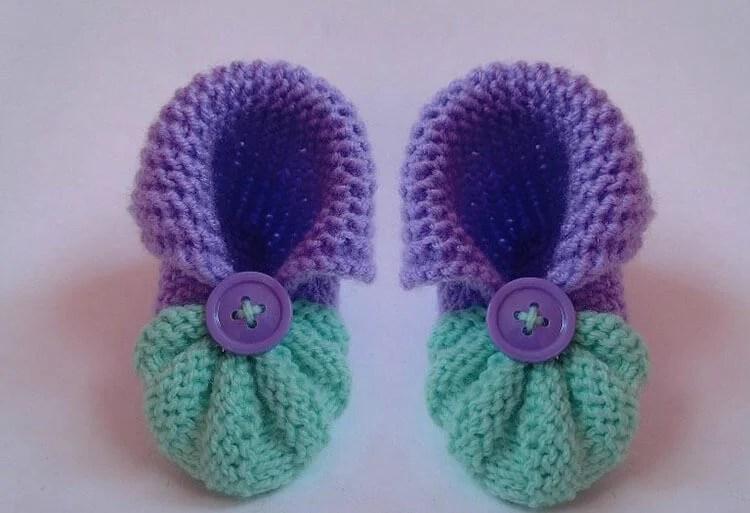 Пинетки для новорожденных малышей спицами: что можно связать для первой обуви малышам pinetki spicami s opisaniem i skhemami 60