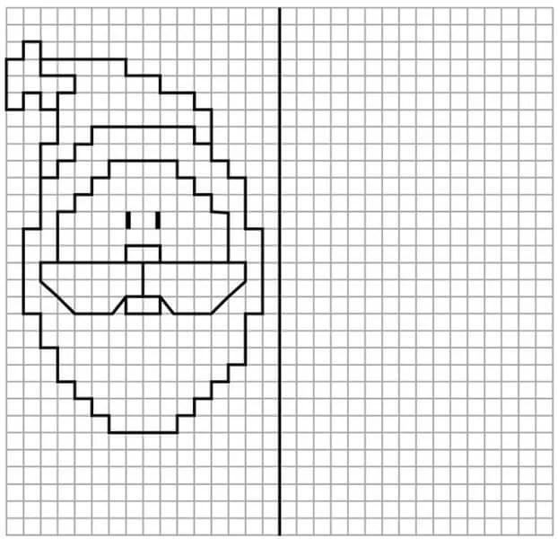 Vackra och enkla ritningar på celler i anteckningsböcker för nybörjare Graficheskie Risunki Po Kletochkam 12