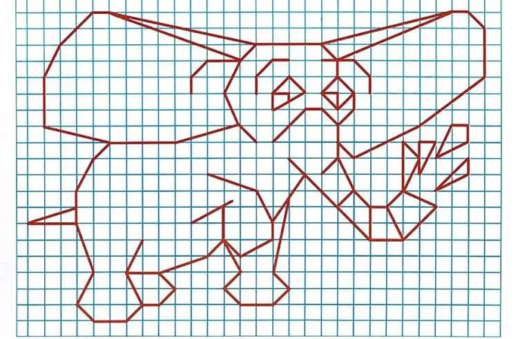 Vackra och enkla ritningar på celler i anteckningsböcker för nybörjare Graficheskie Risunki Po Kletochkam 138