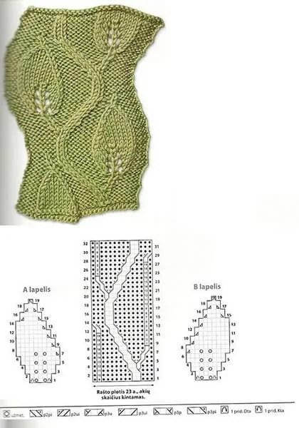 Как вязать ажурные узоры: варианты вязания со схемами и описанием azhurnye uzory spicami 39