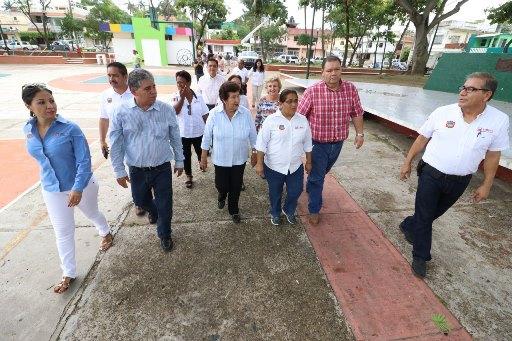 Rehabilita gobierno de Tampico la plaza Estrella