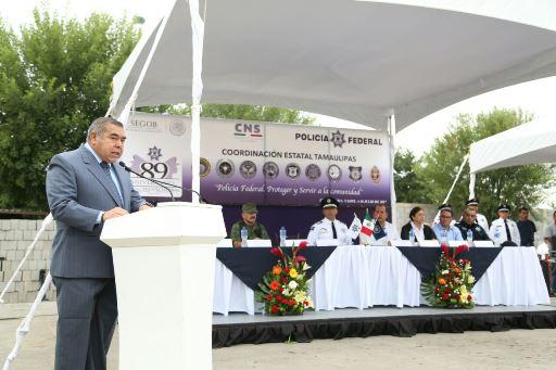 Gobierno de Tamaulipas reconoció a la Policía Federal en su 89 Aniversario