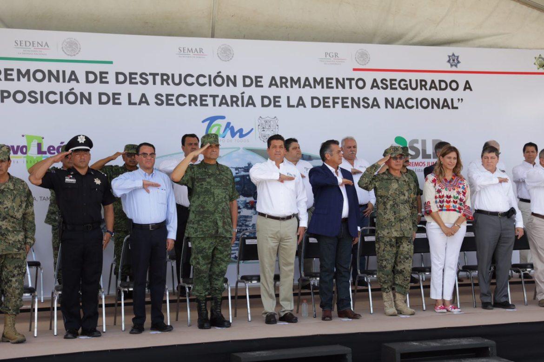 GOBIERNO DE TAMAULIPAS REFRENDA COMPROMISO EN COMBATE A LA DELINCUENCIA