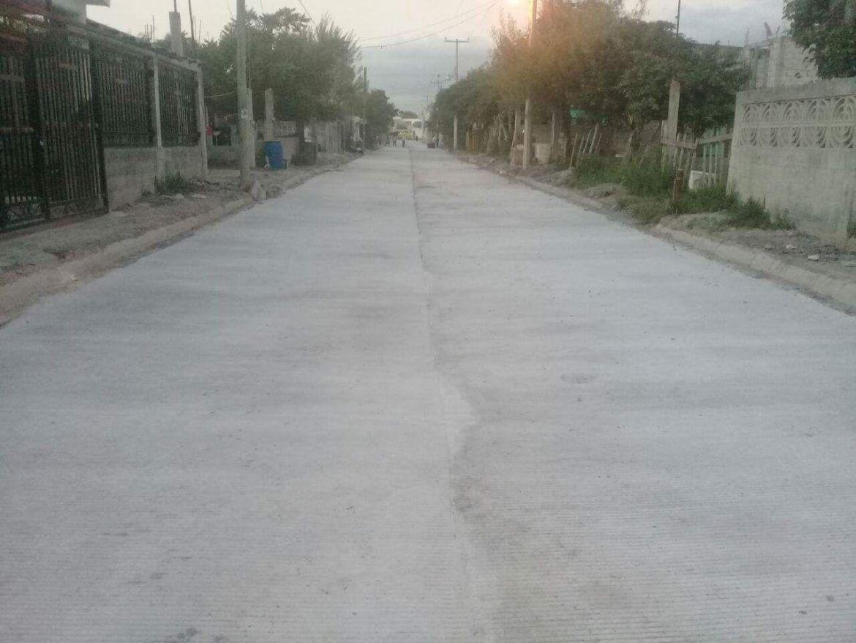 Afina Municipio últimos detalles a calle Sauce