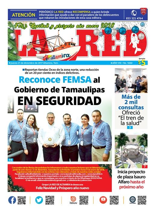Reconoce FEMSA al Gobierno de Tamaulipas en Seguridad