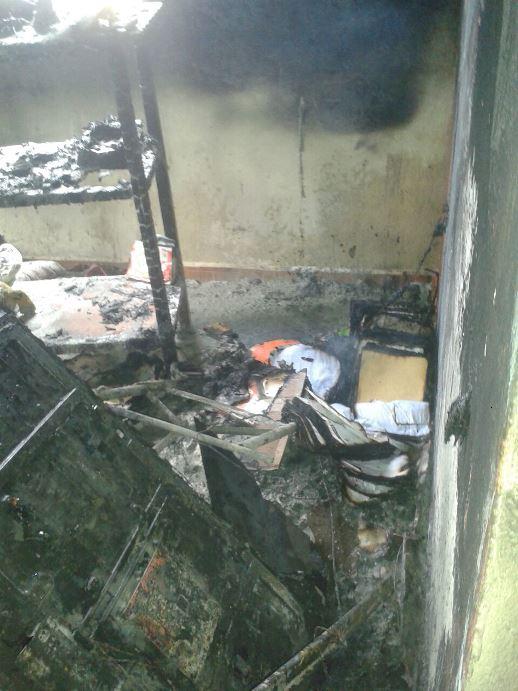 Cortocircuito origina incendio de casa en el sector Miramar