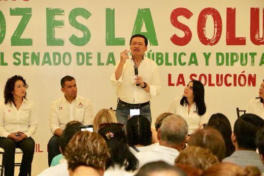 Clama apoyo a priistas Osorio Chong