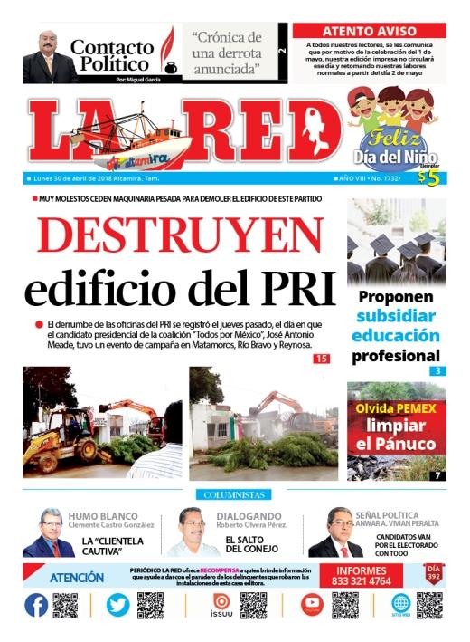 Destruyen edificio del PRI