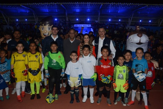 Inaugura alcalde Liga Municipal de Fútbol Infantil y Juvenil de Tampico