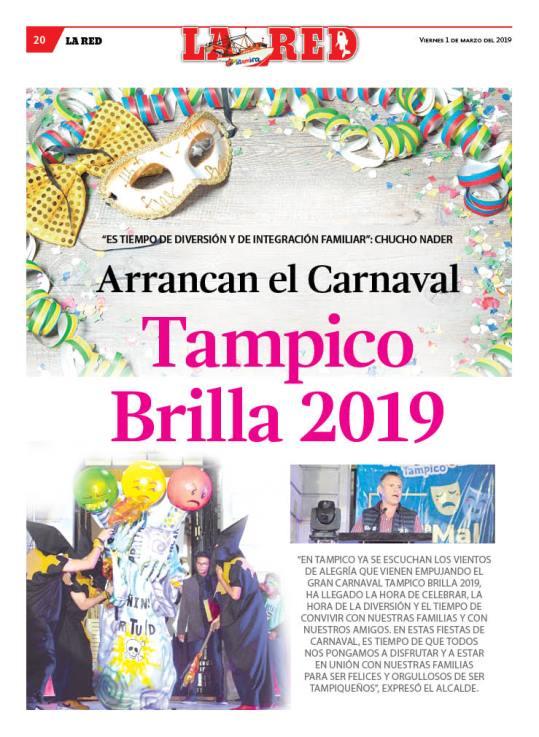 Arrancan el Carnaval Tampico Brilla 2019