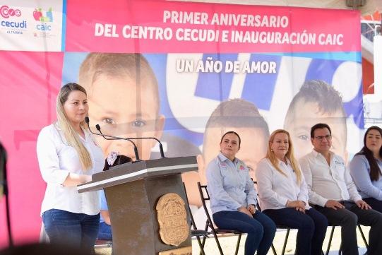 Celebra Gobierno de Altamira primer aniversario del Centro de Cuidado Diario Infantil
