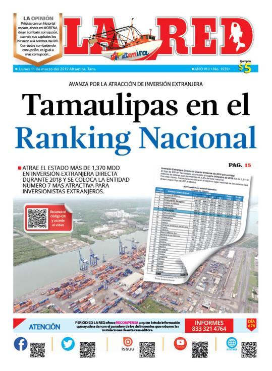 Tamaulipas en el Ranking Nacional