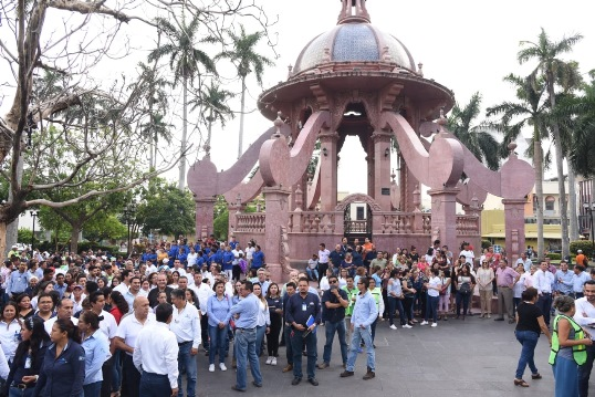 ¡EVACUAN! el palacio municipal de Tampico