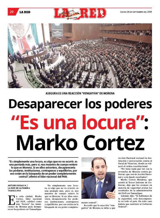 """Desaparecer los poderes """"es una locura"""": Marko Cortez"""