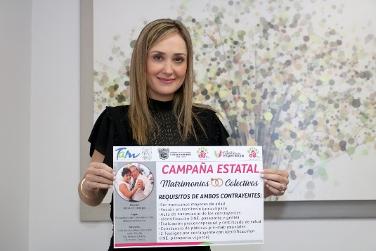 Invita DIF Madero a Tercera Campaña Estatal de Matrimonios Colectivos