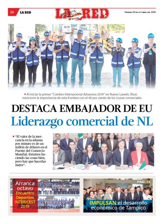 Destaca embajador de EU liderazgo comercial de Nuevo Laredo