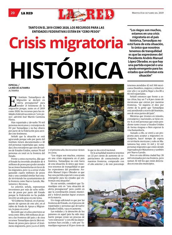 Crisis migratoria HISTÓRICA