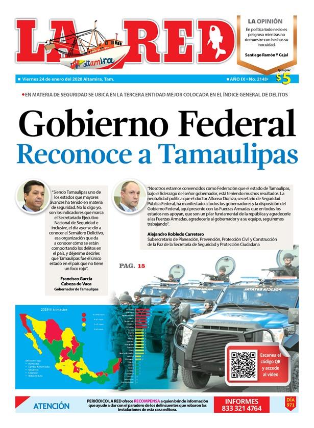 Gobierno Federal Reconoce a Tamaulipas
