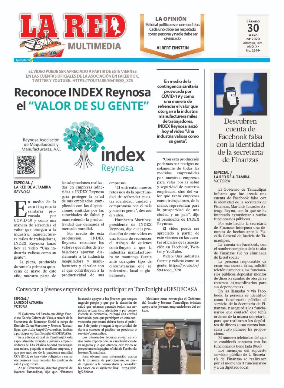 """Reconoce INDEX Reynosa el """"Valor de su gente"""""""