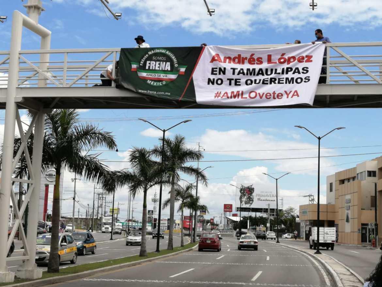 """""""EN TAMAULIPAS NO TE QUEREMOS AMLO"""" REPUDIO  LA CARAVANA DE MAS DE 400 COCHES EN LA MARCHA ANTI-AMLO."""