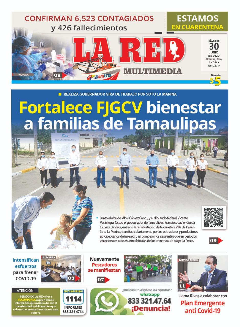 Fortalece FJGCV bienestar a familias de Tamaulipas