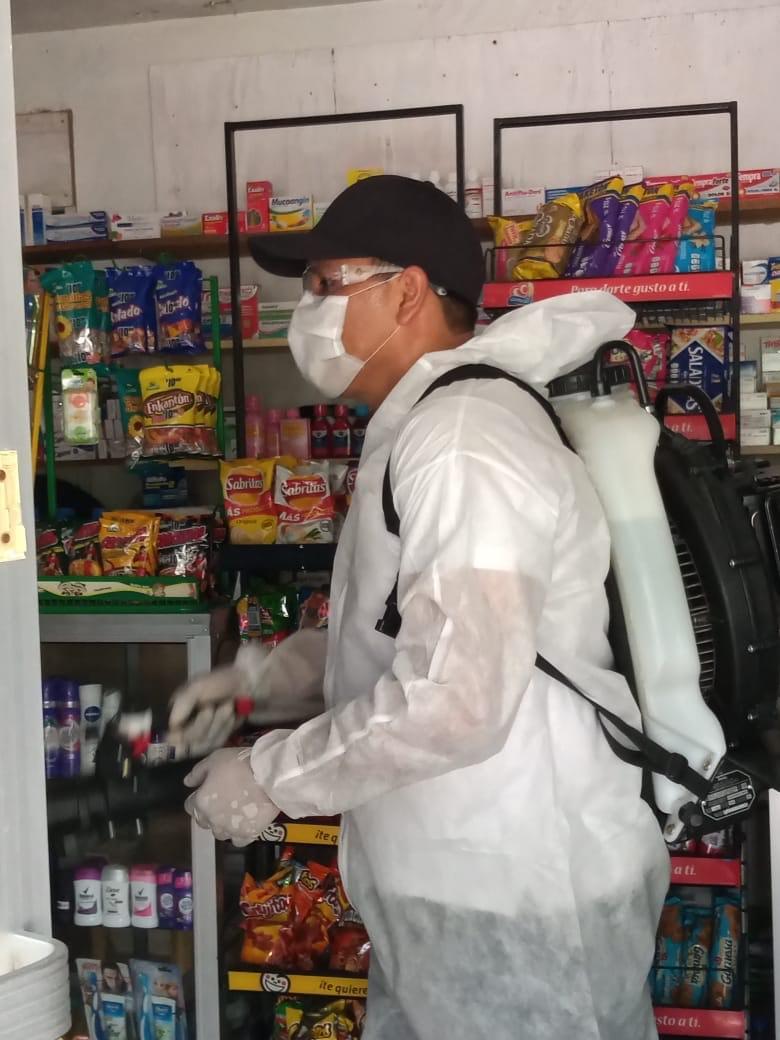 Aplican acciones de sanitización en negocios de González Villarreal