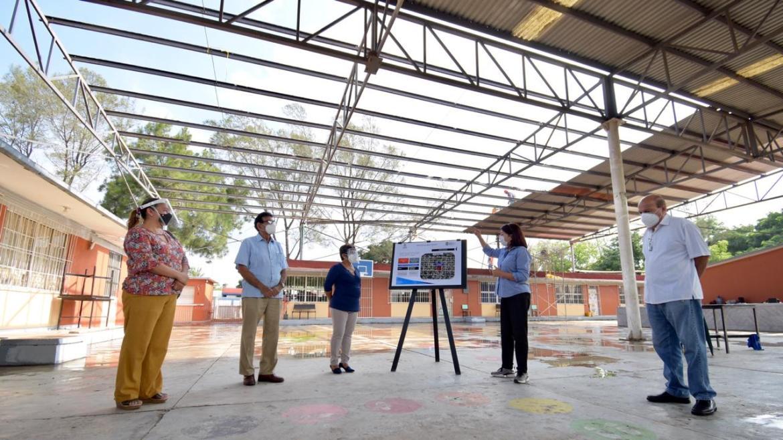 Rehabilitan instalaciones de planteles educativos