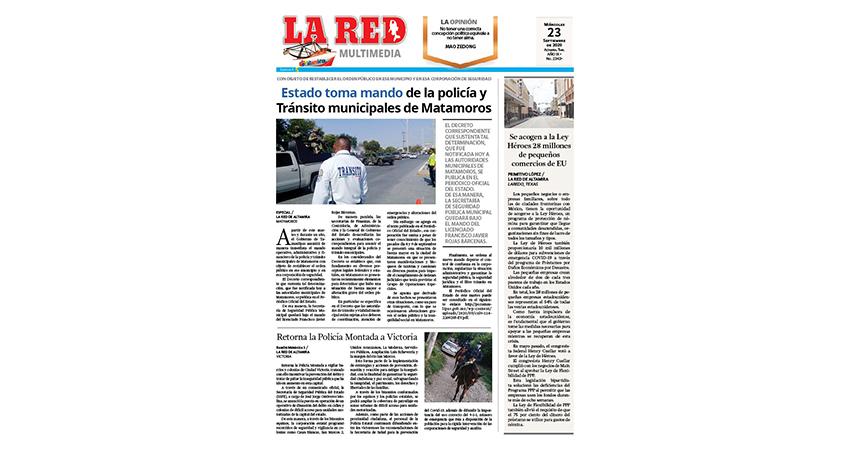 Estado toma mando de la policía y tránsito municipales de Matamoros