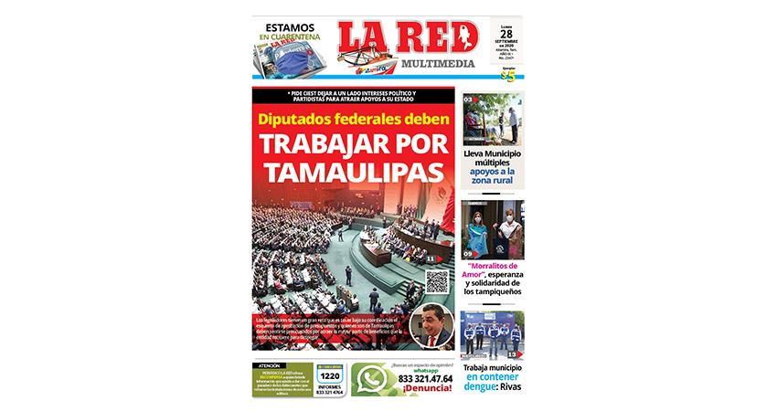 Diputados federales deben trabajar por Tamaulipas