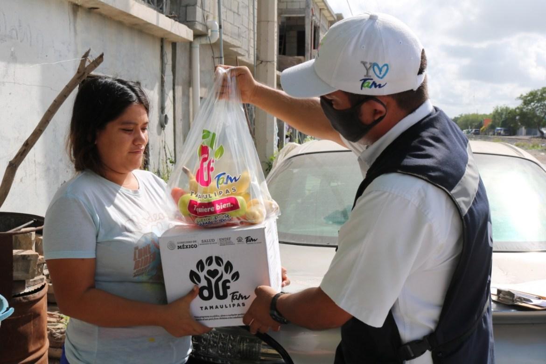Programa DIF Tamaulipas entrega 200 mil apoyos alimentarios a familias del estado