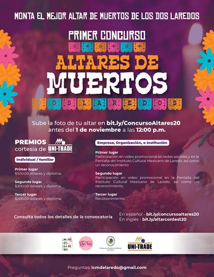 Consulado México en Laredo, Texas lanza concurso Altares de Muertos dos Laredo