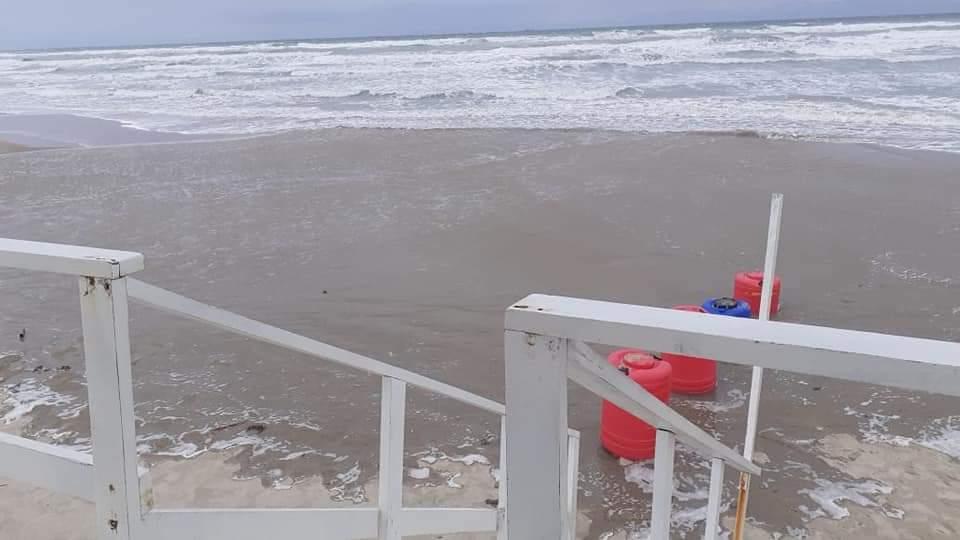 Cierran Playa Miramar por afectaciones del intenso norte
