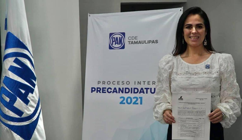 Se registra Marina Ramírez por el PAN a la diputación por el distrito XIII