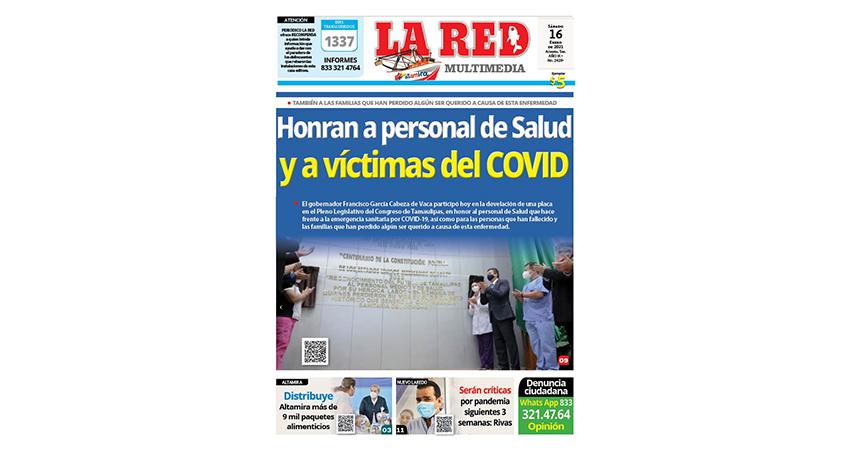 Honran a personal de Salud y a las víctimas del COVID