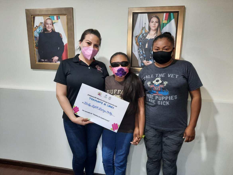 Apoya DIF Altamira a menor con desprendimiento de córnea