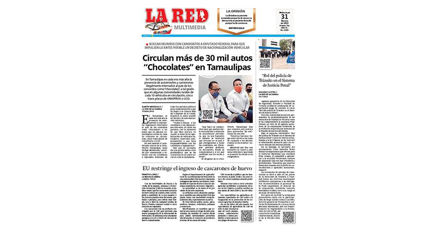 "Circulan más de 30 mil autos ""Chocolates"" en Tamaulipas"