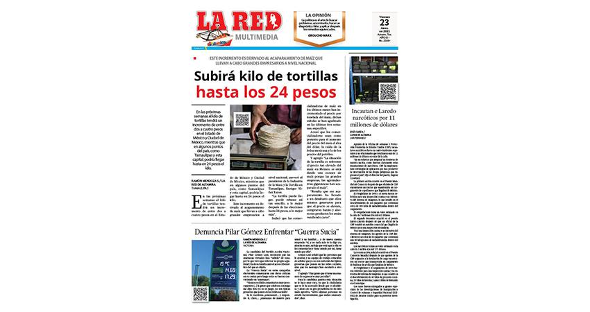 Subirá kilo de tortillas hasta los 24 pesos