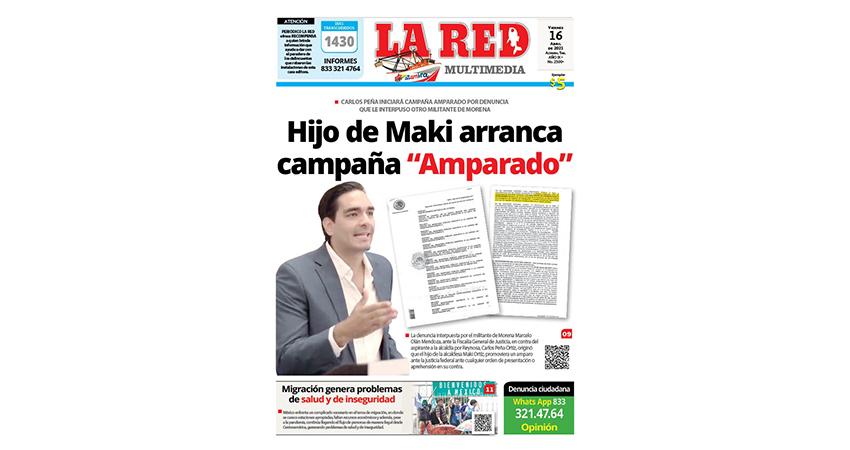 """Hijo de Maki arranca campaña """"Amparado"""""""