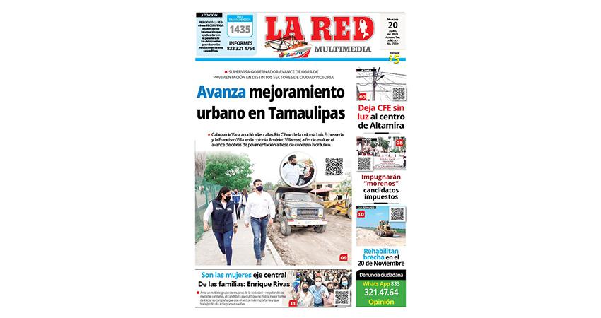 Avanza mejoramiento urbano en Tamaulipas