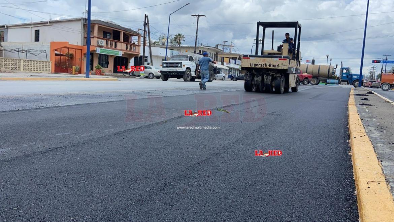 Arranca reencarpetado de pavimentación asfáltica en avenida Fundadores