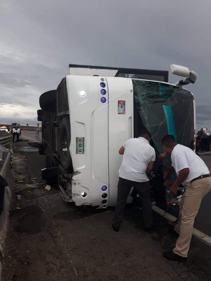Volcadura deja 31 haitianos heridos en Altamira