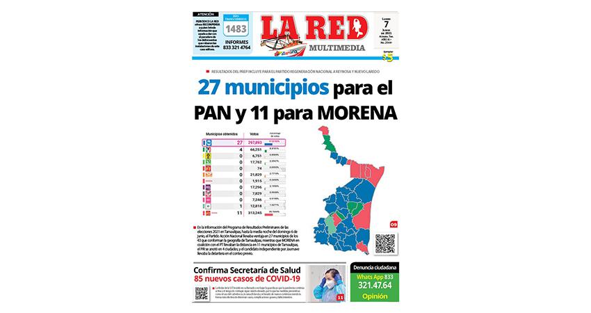 27 municipios para el PAN y 11 para MORENA