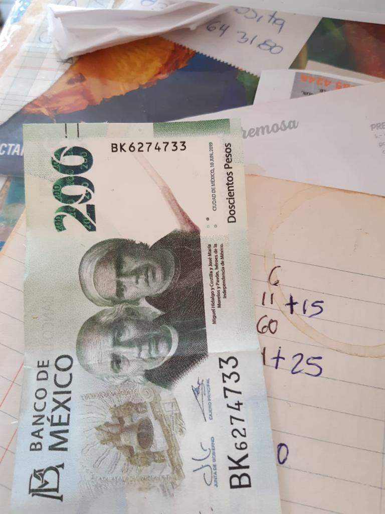 Circulan billetes falsos de 200 pesos en Altamira