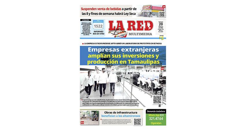 Empresas extranjeras amplían sus inversiones y producción en Tamaulipas